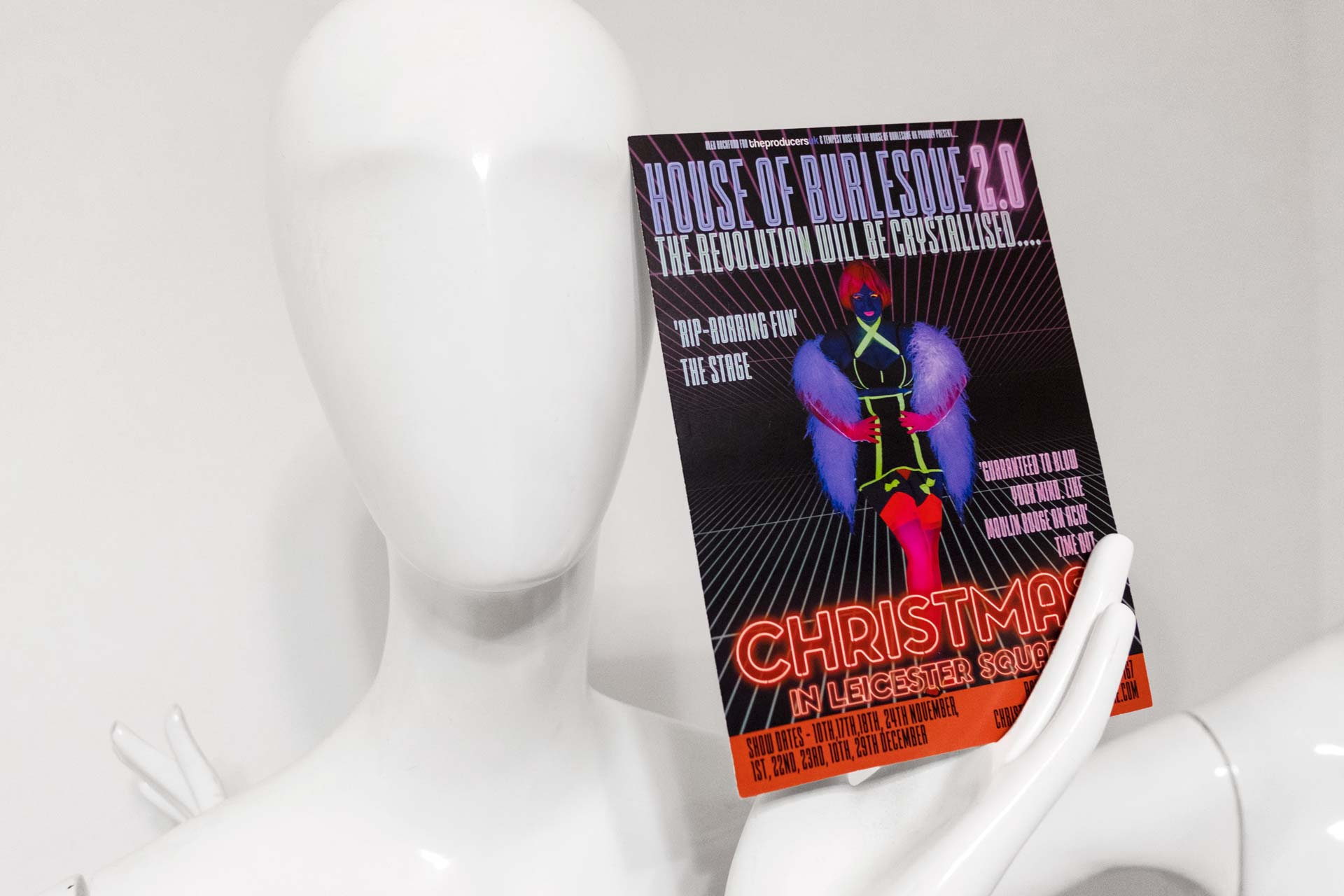 leaflet of the show house of burlesque 2.0 london