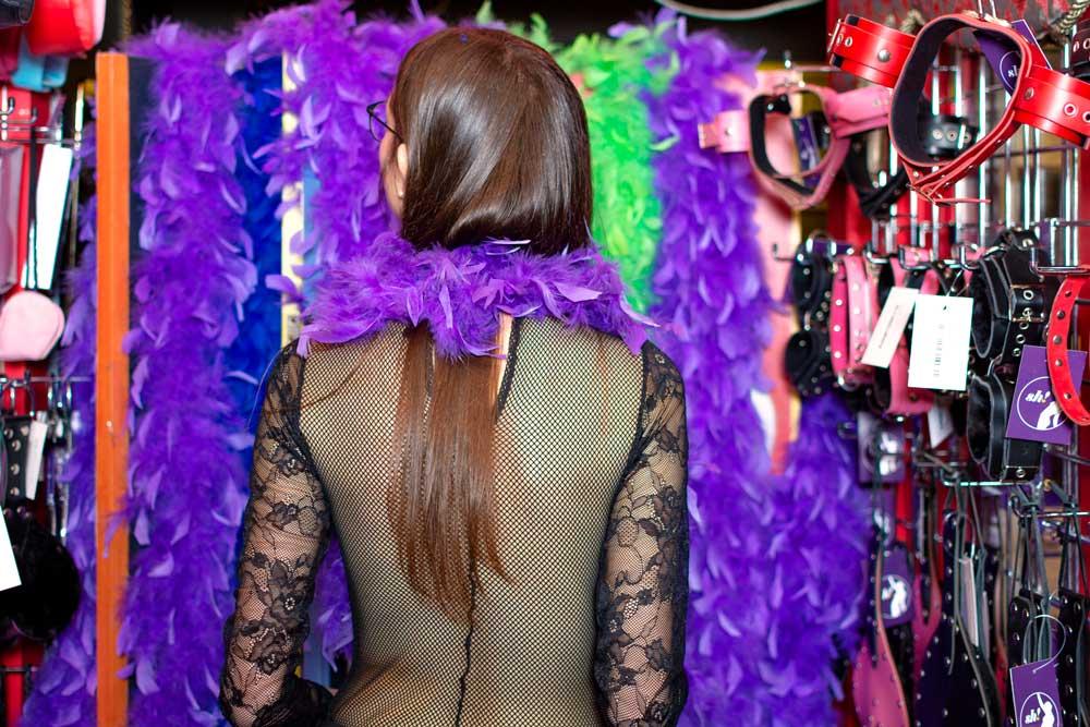 boa di piume sex shop