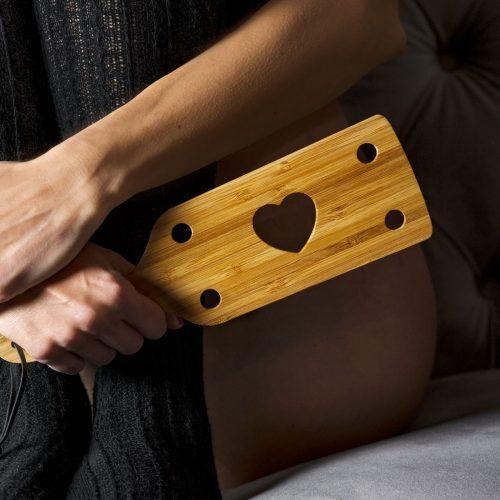 PALETTA spanking BDSM bamboo cuore