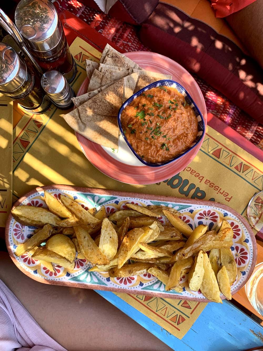 hummus e patate Tranquilo Santorini