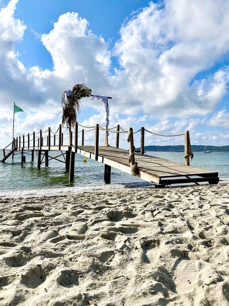 pontile spiaggia pampelonne